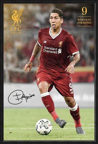 Framed Framed Firmino 17-18 - Liverpool FC