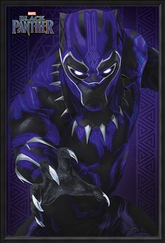 Framed Framed Glow - Black Panther