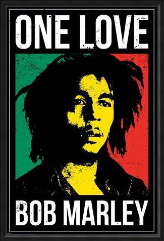 Framed Framed One Love - Bob Marley