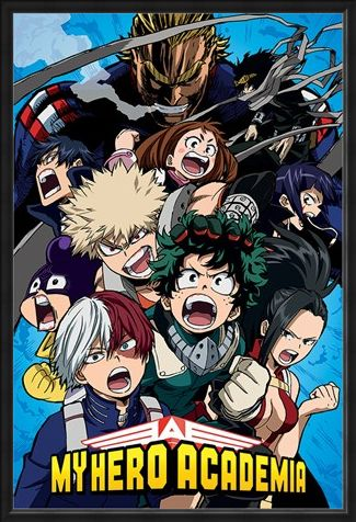 Framed Framed Cobalt Blast Group - My Hero Academia