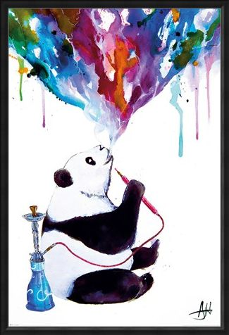 Framed Framed Chai Panda - Marc Allante