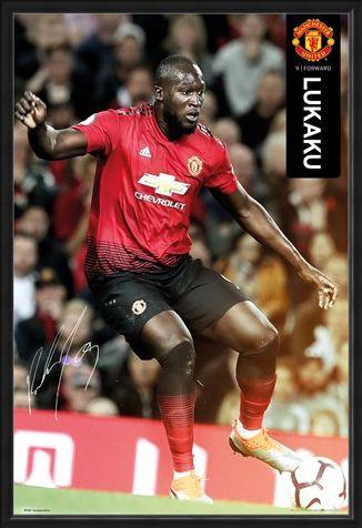 Framed Framed Lukaku 18-19 - Manchester United