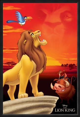 Framed Framed King of Pride Rock - The Lion King