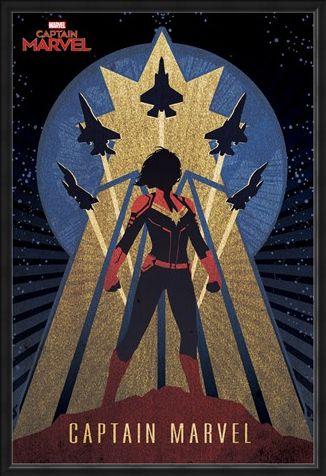 Framed Framed Deco - Captain Marvel