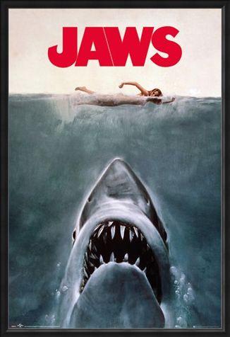 Framed Framed Jaws - Steven Spielberg