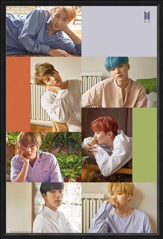 Framed Framed Group Collage - BTS K-Pop