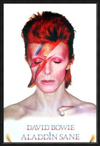 Framed Framed Aladdin Sane Album Cover Art 1973 - David Bowie Album Covers