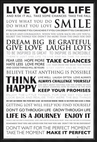 Framed Framed Dream Big - Think happy and Smile