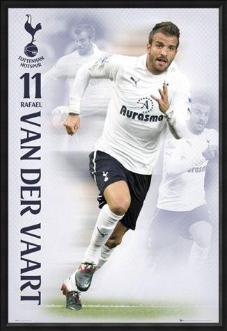 Framed Framed Rafael Van Der Vaart - Tottenham Hotspur Football Club