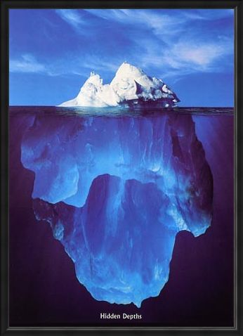 Framed Framed Iceberg - Hidden Depths
