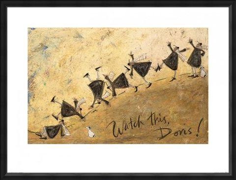 Framed Framed Watch This Doris! - Sam Toft