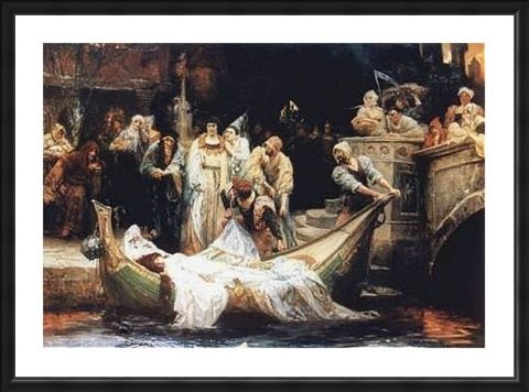 Framed Framed The Lady of Shalott - G E Robertson