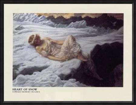 Framed Framed Heart of Snow - Edward Robert Hughes