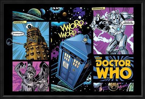 Framed Framed Comicbook Style - Doctor Who
