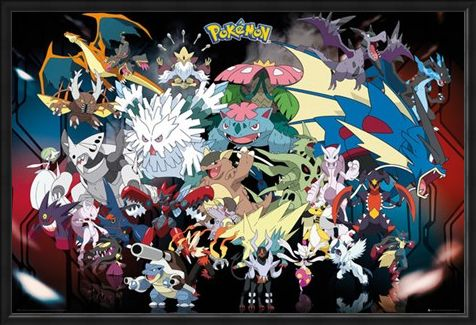 Framed Framed Mega Evolutions - Pokemon