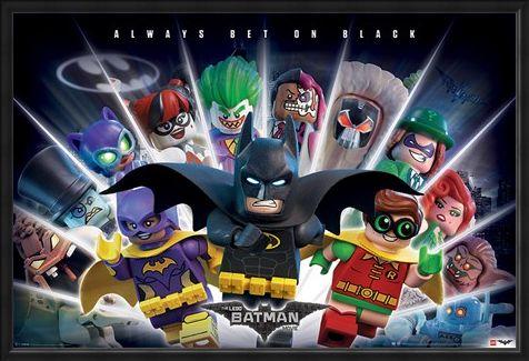 Framed Framed Always Bet on Black - The Lego Batman Movie