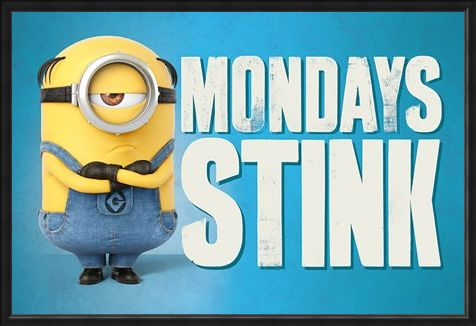 Framed Framed Mondays Stink - Despicable Me 3