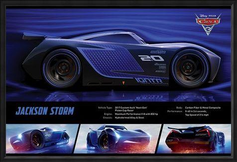 Framed Framed Jackson Storm Stats - Cars 3