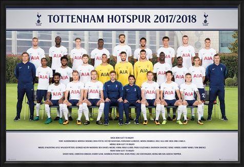 Framed Framed Photo 17-18 - Tottenham Team