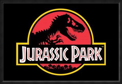Framed Framed Movie Logo - Jurassic Park