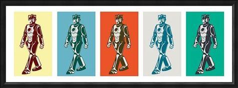 Framed Framed Pop Art Style Cybermen - Doctor Who