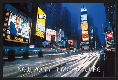 Framed Framed Neon Panorama - New York City
