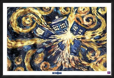 Framed Framed Exploding Tardis - Doctor Who