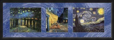 Framed Framed Van Gogh Triptych - Vincent Van Gogh