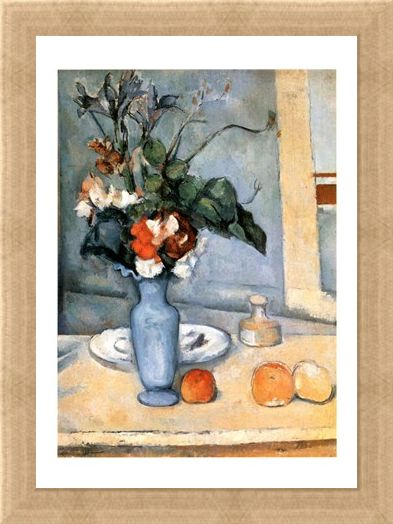 Framed Framed Il Vaso Blu - Paul Cezanne