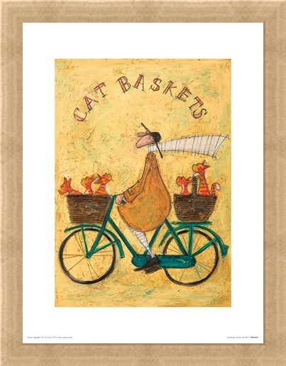 Framed Framed Cat Baskets - Sam Toft
