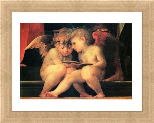Framed Framed Madonna E Santi - Rosso Fiorentino