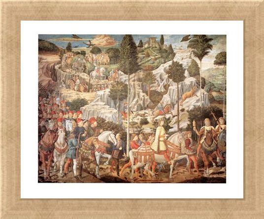 Framed Framed Corteo Dei Re Magi - Benozzo Gozzoli