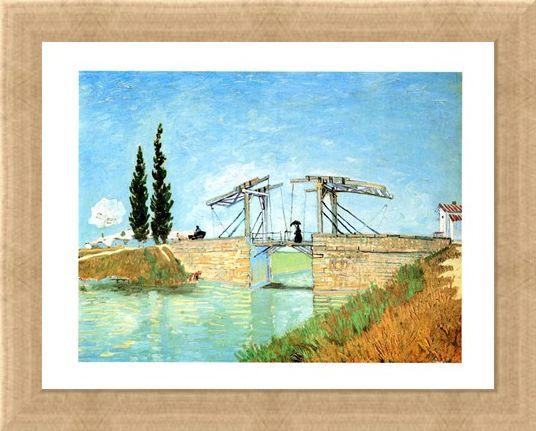 Framed Framed Il Ponte Di Langlois - Vincent Van Gogh