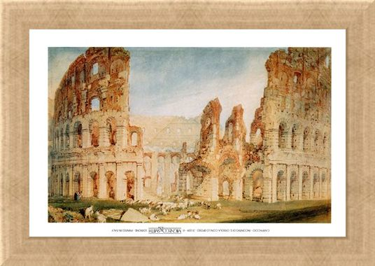 Framed Framed Il Colosseo - Joseph Mallord William Turner