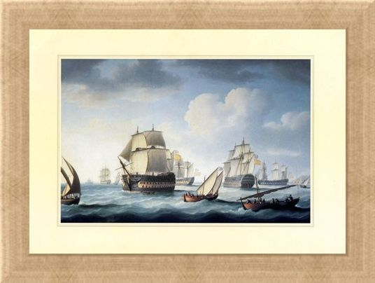 Framed Framed The Battle Of Trafalgar - Naval Warfare