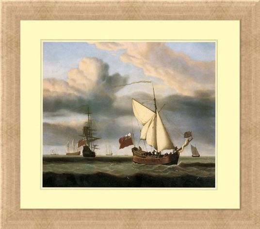 Framed Framed The Yacht 'Royal Escape' - Willem van de Velde