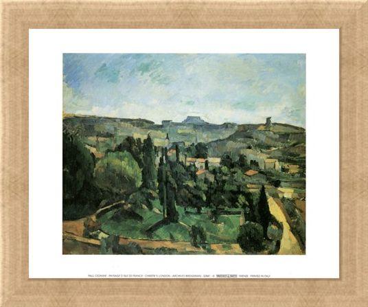 Framed Framed Paysage D'Isle de France - Paul Cezanne