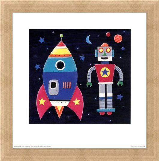 Framed Framed Rocket - Simon Hart