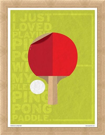 Framed Framed Minimal Movies: Forrest Gump - I Just Loved Playing Ping Pong