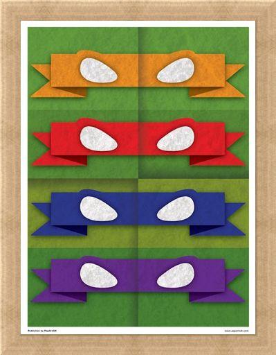 Framed Framed Minimal Movies: Teenage Mutant Ninja Turtles - Eye Masks