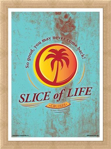 Framed Framed Slice Of Life Cruises Mini Poster - Inspired By Dexter