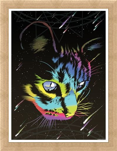 Framed Framed Rainbow Cat - Unorthodox Collective