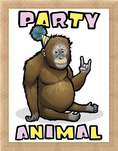 Framed Framed Monkey Time! - Party Animal