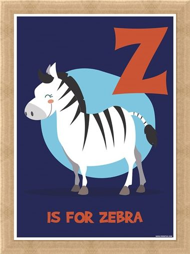 Framed Framed Z...Is For Zebra - Animal Education