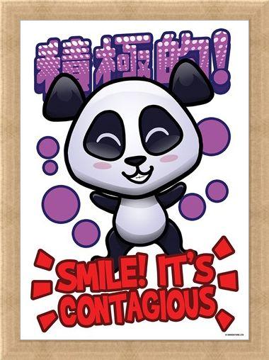 Framed Framed Smile! - Handa Panda