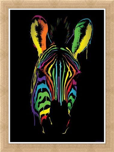 Framed Framed Neon Zebra - Unorthodox