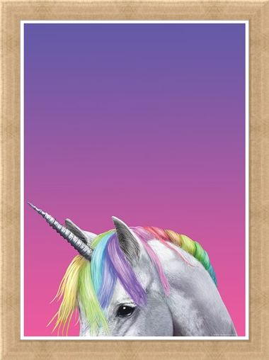 Framed Framed Rainbow Unicorn - Inquisitive Creatures