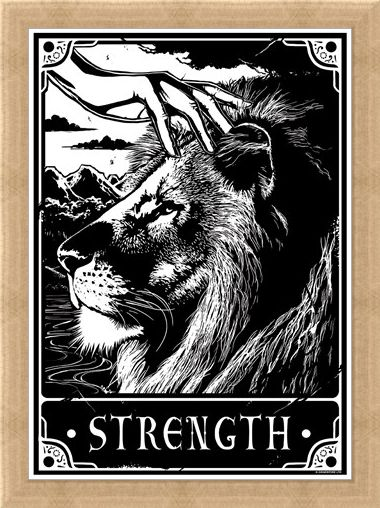 Framed Framed Strength - Deadly Tarot