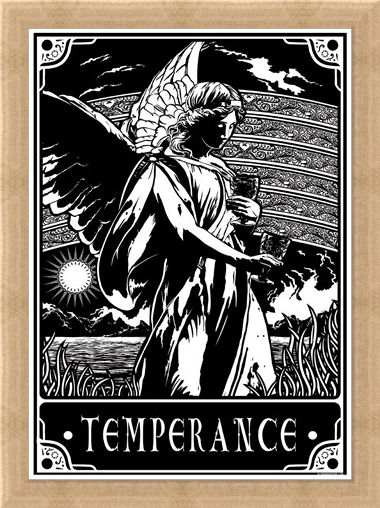 Framed Framed Temperance - Deadly Tarot