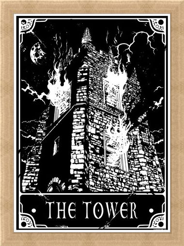 Framed Framed The Tower - Deadly Tarot